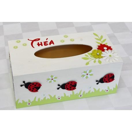 Boîte à mouchoirs coccinelle