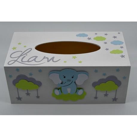 Boîte à mouchoirs Eléphant assis
