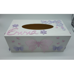 Boîte à mouchoirs Papillon