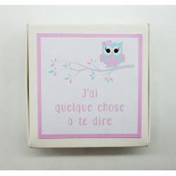 Boite badge Annonce grossesse Chouette