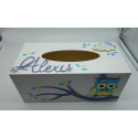 Boîte à mouchoirs Hibou
