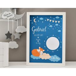 Affiche naissance Renard