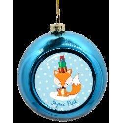 Boule de Noël Renard avec cadeaux