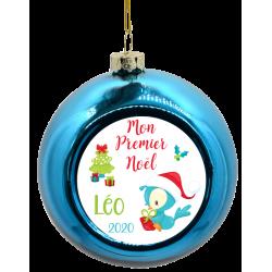 Boule de Noël Oiseau avec cadeau