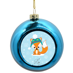 Boule de Noël Renard sous flocons