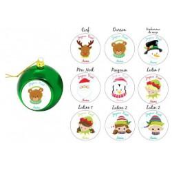 Boule de Noël Visage de Noël