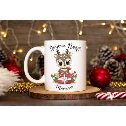 Mug Noël avec 1 photo