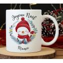 """Mug Noël """"Bonhomme de neige"""""""