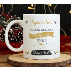 "Mug Noël ""Super marraine"""