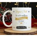 """Mug Noël """"Super marraine"""""""