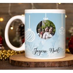 "Mug Noël ""Paysage de Noël avec 3 photo"""