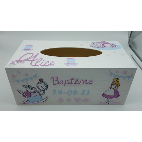 Boîte à mouchoirs - Alice