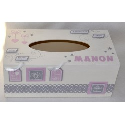 Boîte à mouchoirs - Urne baptême Manon