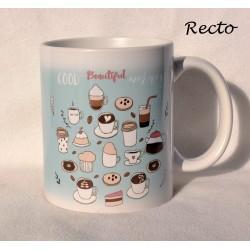 Mug café chat bleu